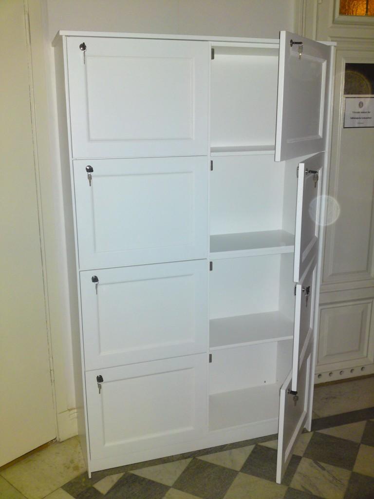 Förvaringsskåp med lås